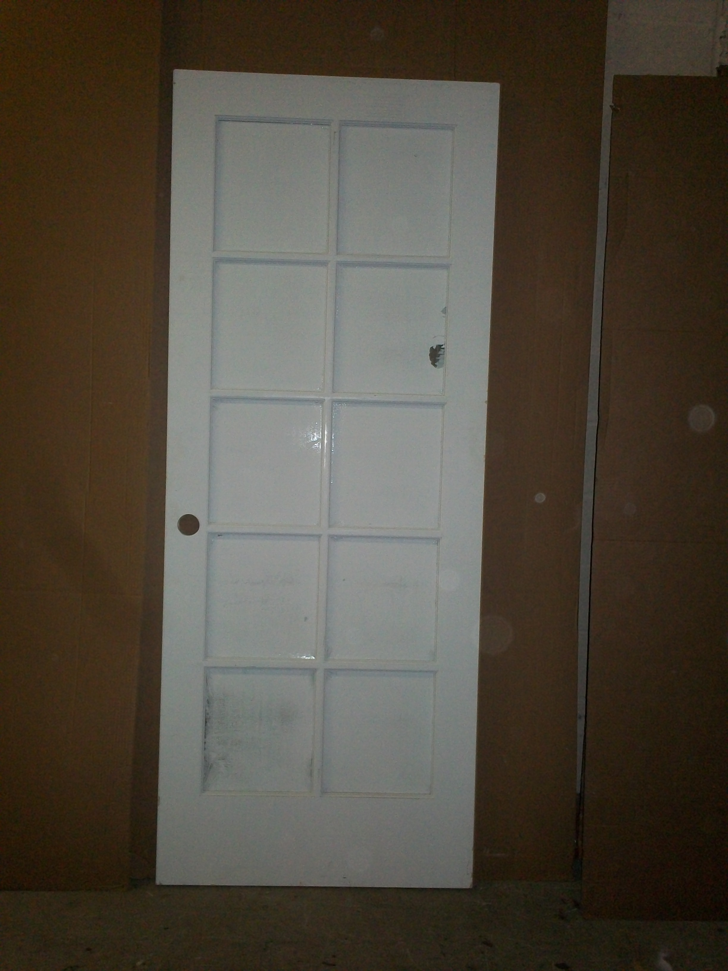 32u2033 X 80u2033 X 1 3/8u2033 10 Lite French Door Only Interior Primed Beveled Glass!  Prepped Right Hand Hinges On Left Original Cost: $277. Selling For $199