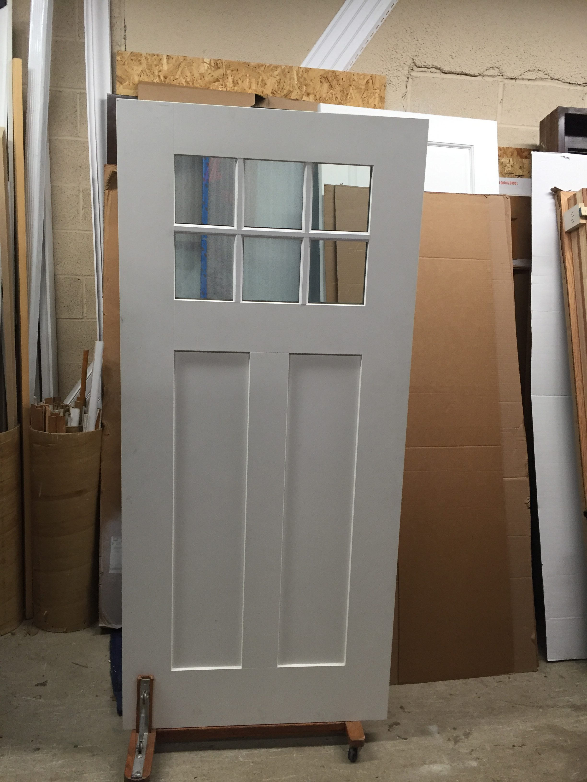Full Lite Interior Door W Hardware Inv Lem24 Lemieux 5001 Insulate Gl Size 30 X 80 1 3 4 Prefinished White Left Hand