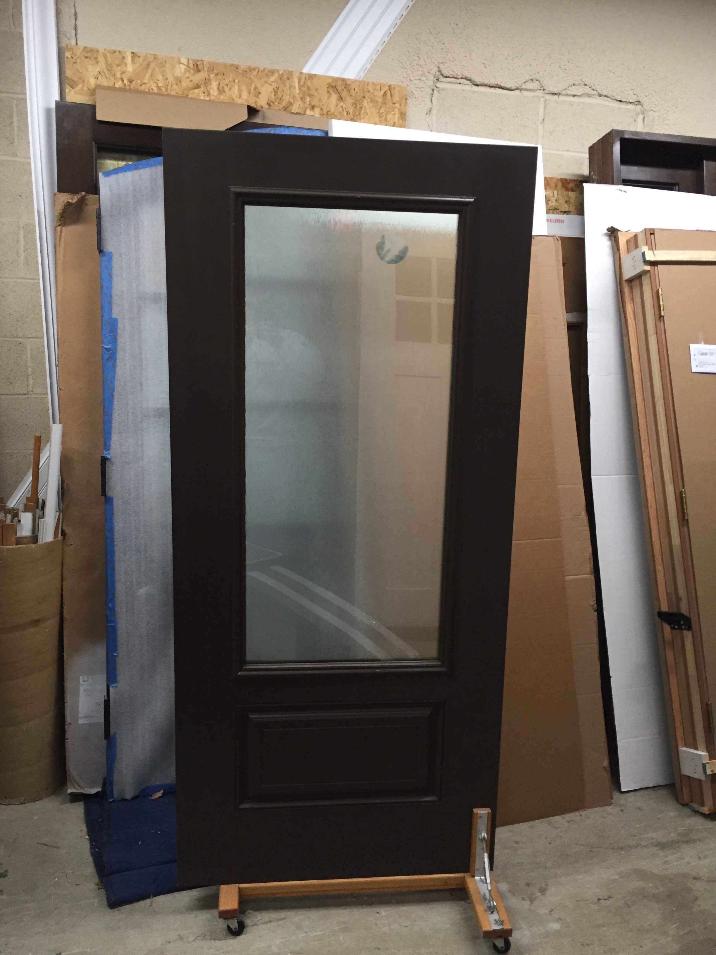 Fiberglass Door Slab With 3/4 Privacy Glass Exterior Painted, Interior  Stained Walnut (We Also Have Same Door W/Face Crack, Interior Stained  Cedar, ...