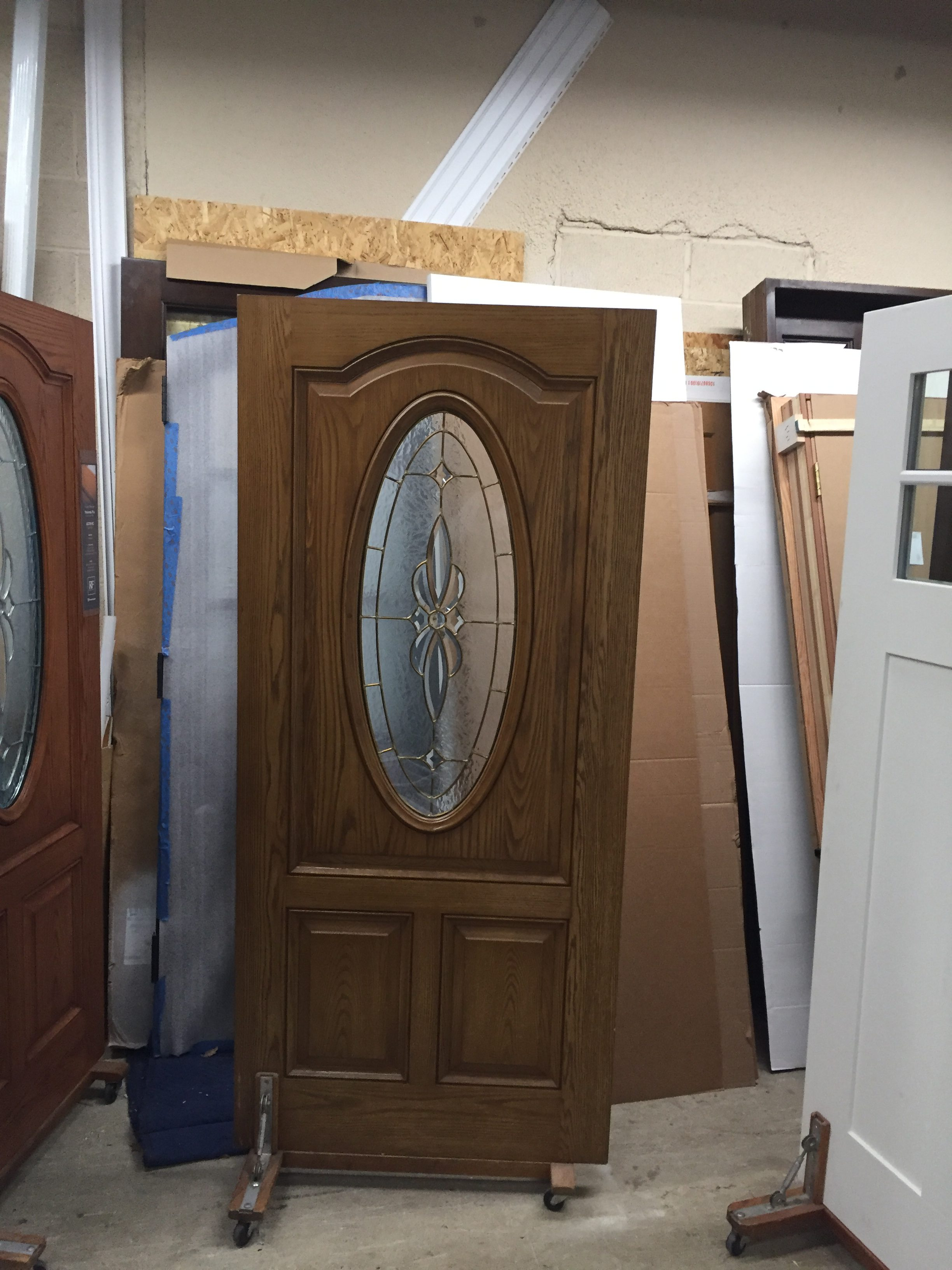 ... Classic Craft Fiberglass Door Slab Interior Stained: Light Oak/Exterior  Stained : Dark Walnut Door Is Unhanded Can Be Fir Into Existing Frame Or  Frame ...